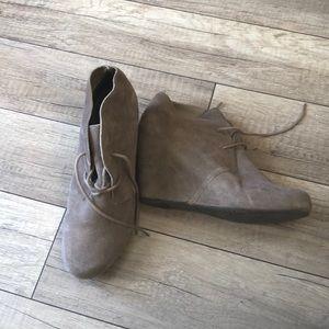 Wedge Grey Booties